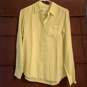 Lime green silk top